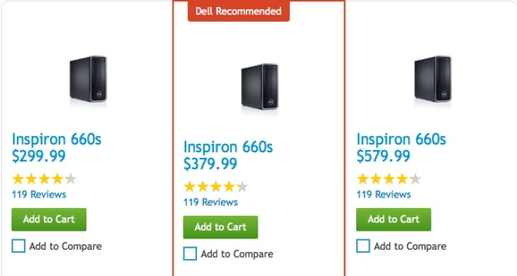 Dell Inspiron 660s desktop choices