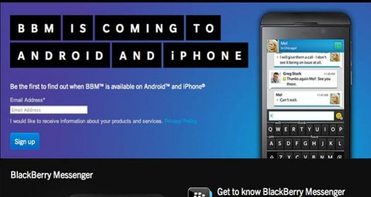 BBM loophole on iPhone for download