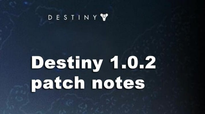Destiny 1.0.2 patch notes with big changes