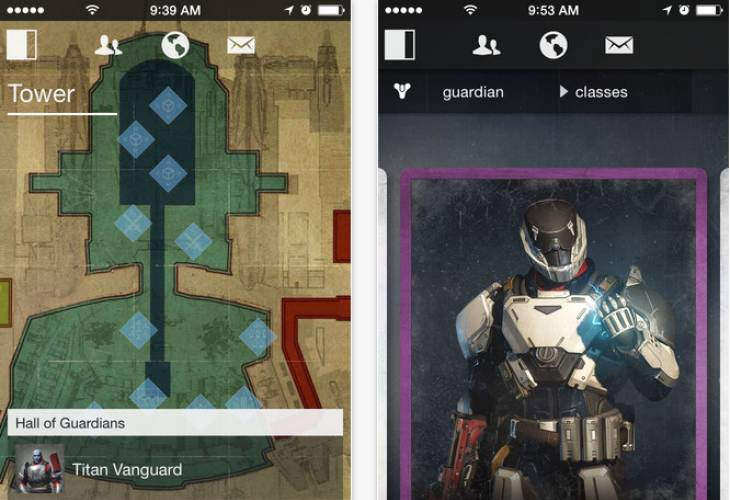 Destiny Companion app update