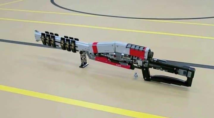 Destiny LEGO with custom Ice Breaker sniper rifle