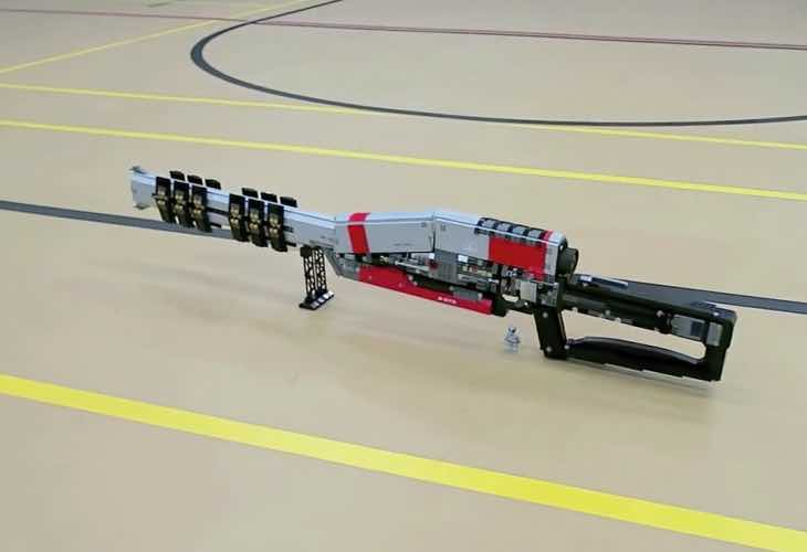 Destiny LEGO with custom Ice Breaker sniper rifle