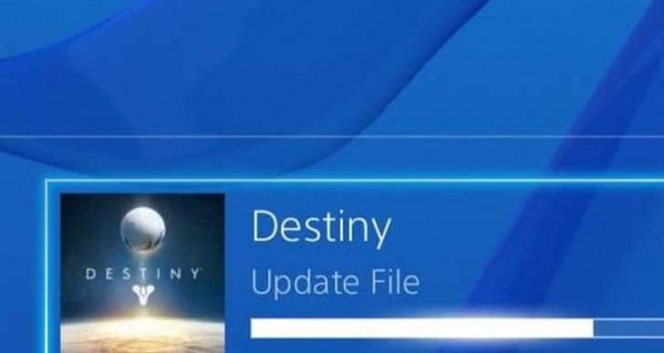 Destiny 1.17 PS4 update not downloading