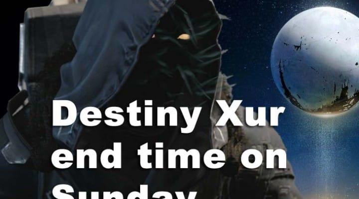 Destiny Xur Sunday end time, Nov 14 location next