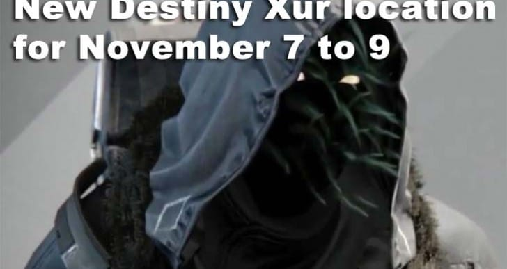 New Destiny Xur location pursuit for November 7 to 9