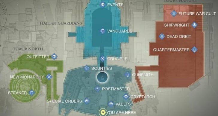 Destiny Xur map location on July 31