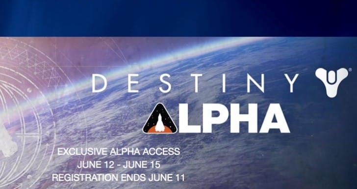 Destiny alpha PS4 test starts