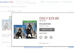 Destiny half price in USA for PS4, Xbox One