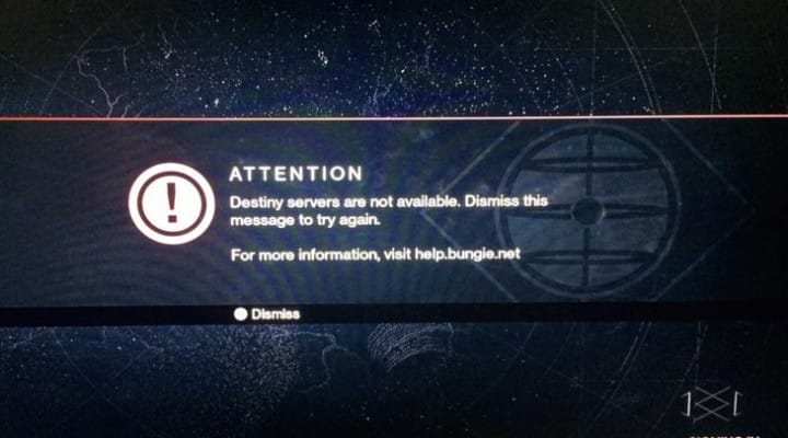 PS4 E8200013A error for PSN, not Destiny down