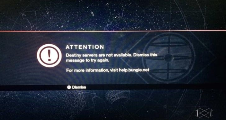 Unable to connect to PSN server for Destiny PS3, PS4