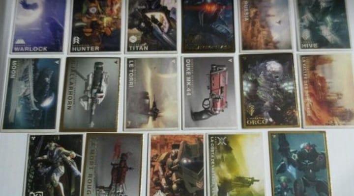 Destiny trading cards gains access to unique content