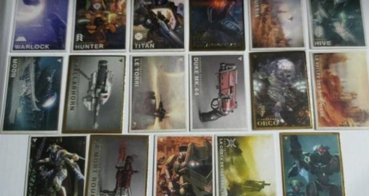 Destiny trading cards gains access to unique content