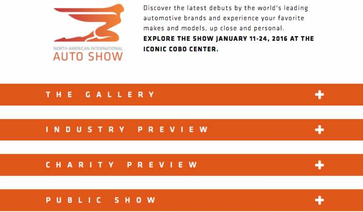 Detroit Auto Show tickets