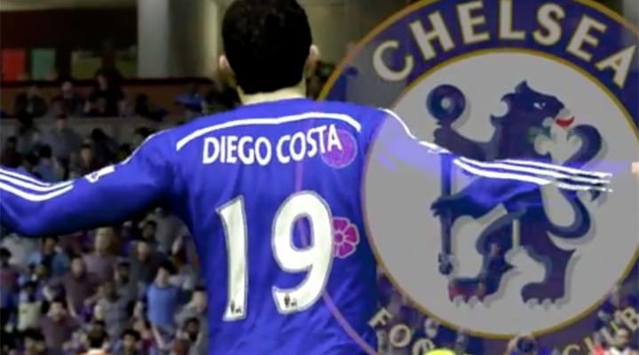 Diego Costa Chelsea FC goals recreated in SIM