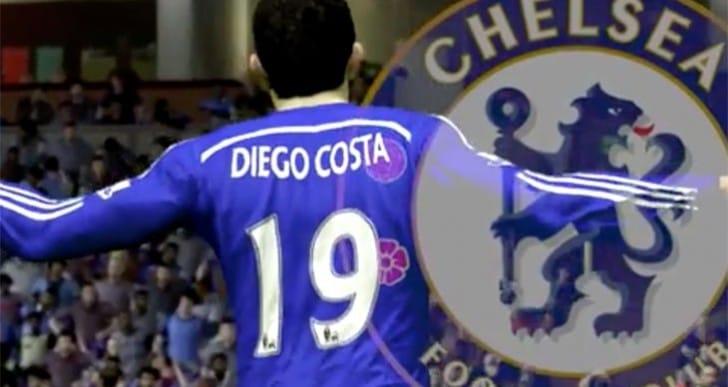 Diego Costa Chelsea FC goals recreated in SIM