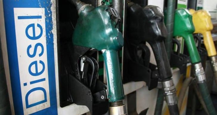 Diesel prices drop to 96.9p for lucky motorists