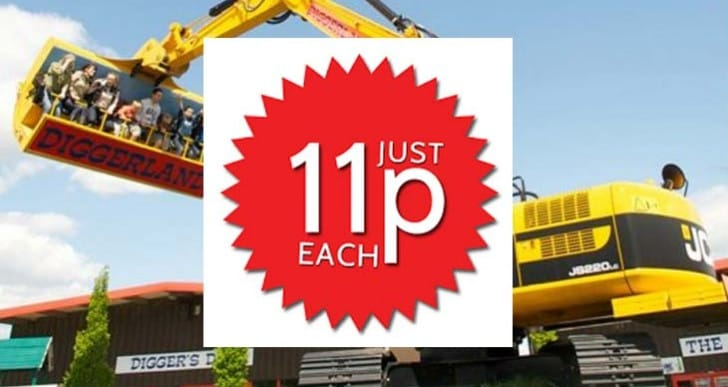 Diggerland 11p tickets take down website