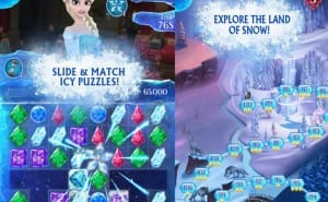 Disney's Frozen Free Fall app for iPhone, iPad