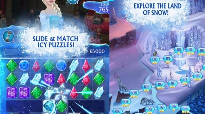Disney's Frozen Free Fall app for iPhone, iPad