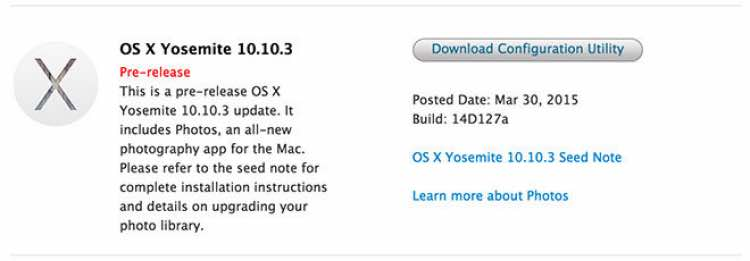 Disruptive OS X 10.10.3 release