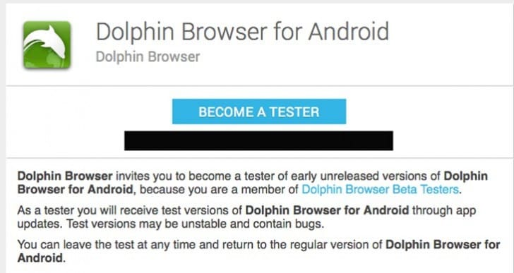 Dolphin Browser beta 11 testers get Android APK