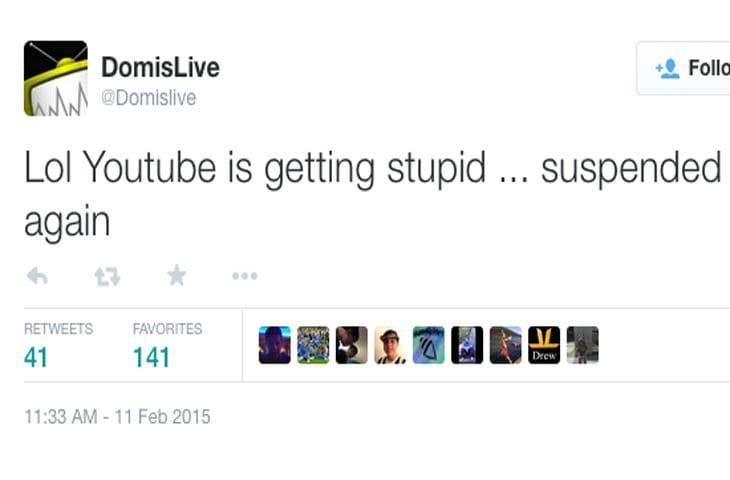 DomIsLive-GTA-V-YouTube-channel-down