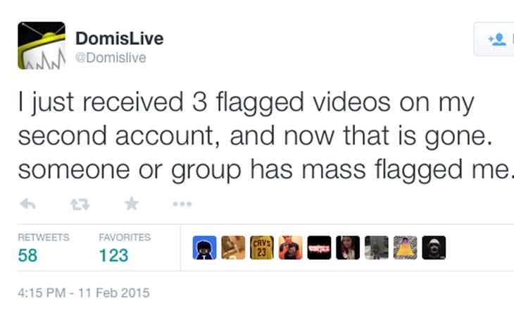 DomIsLive-YouTube-flagged