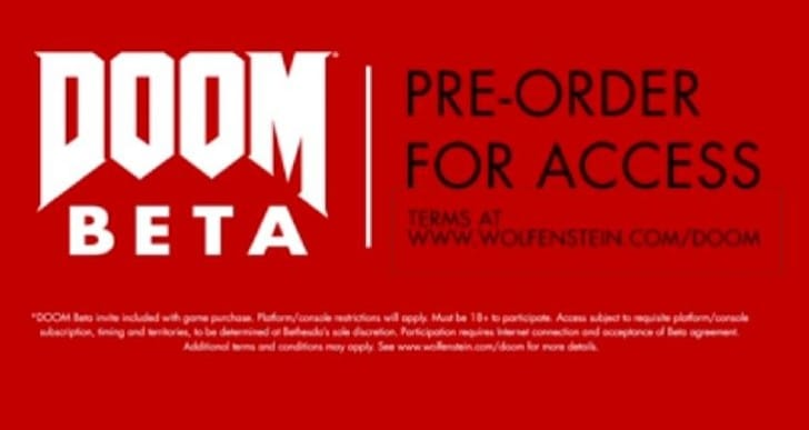 Doom Beta invites with Wolfenstein purchase