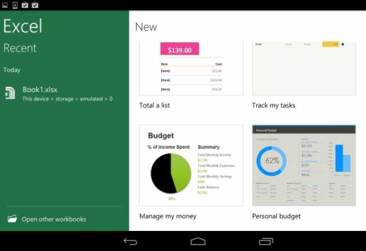 Download Microsoft Office for Android tablets