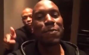 Dr. Dre in studio celebration video