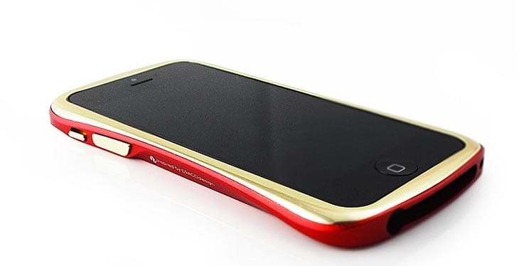 Draco-iPhone-5-bumper-case-red-gold