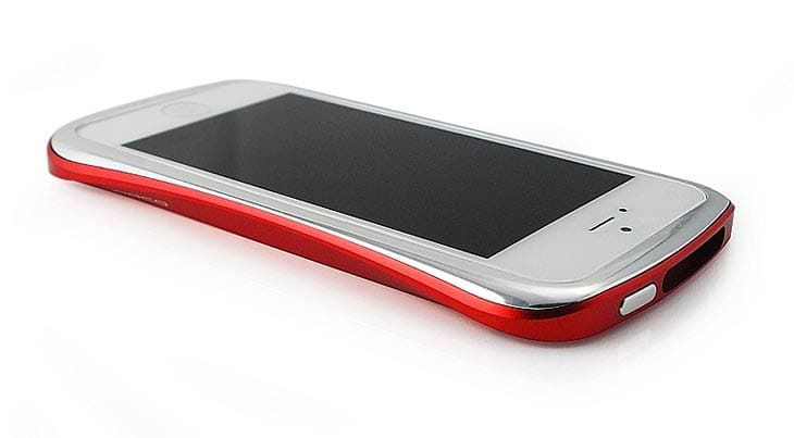Draco-iPhone-5-bumper-case-red-silver