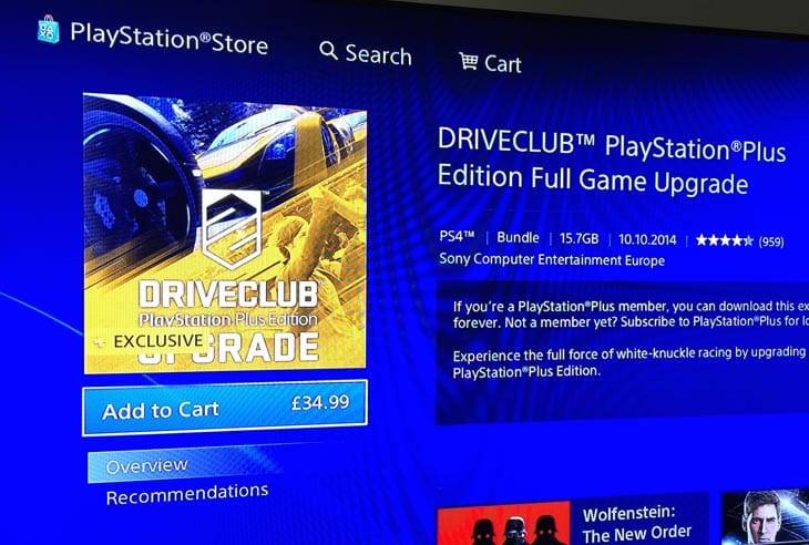 Driveclub PS Plus release date wait