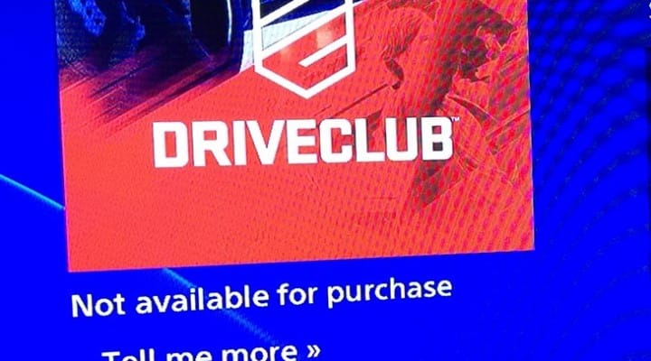 Driveclub PS Plus not available for purchase in UK