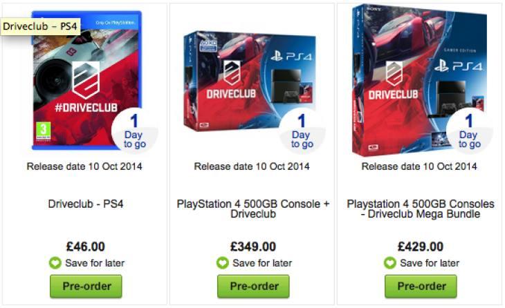 Driveclub price at Asda