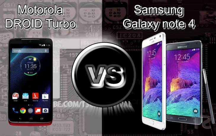 Droid Turbo vs. Galaxy Note 4