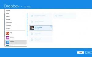 Dropbox app live for Windows 8