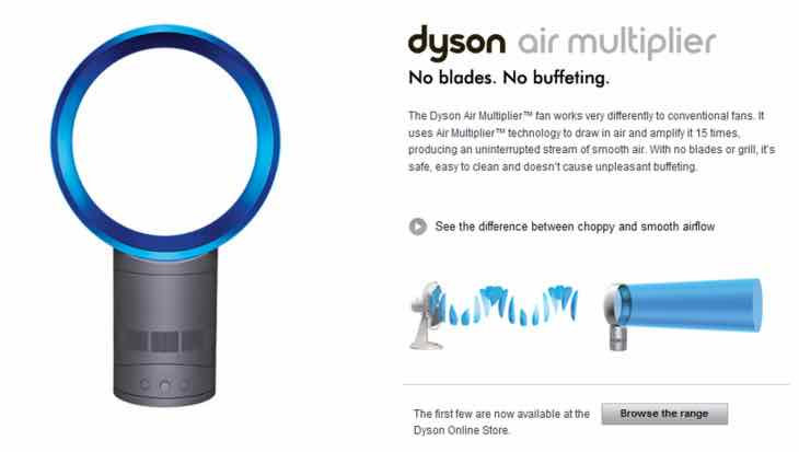 Dyson fans high demand