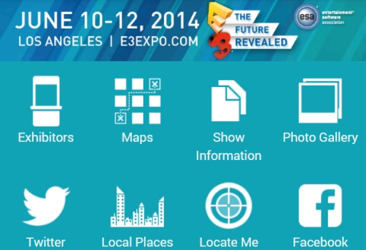E3 2014 app for exhibitor list, floor plan and news