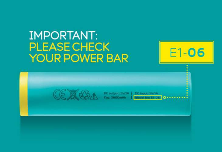 EE Power Bar recall