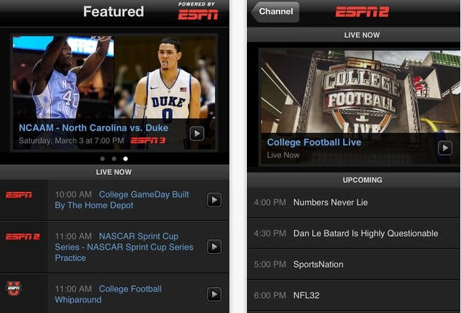 ESPN app for World Cup 2014 live stream