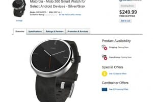 Early Moto 360 Best Buy reveal, but not shipping