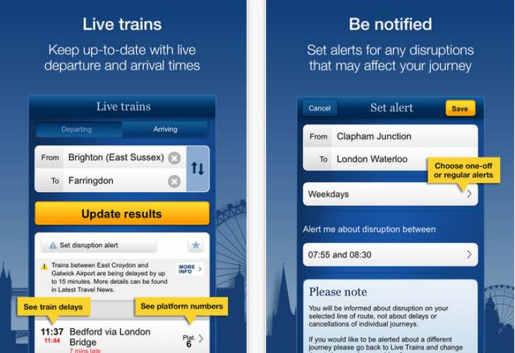 Easter train disruptions specified in National Rail app update
