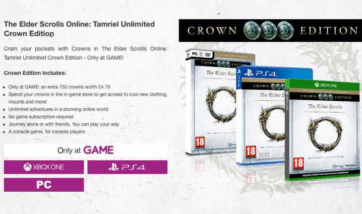 Elder Scrolls Online GAME UK price
