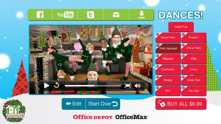 Elf Yourself Facebook craze
