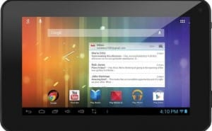 Ematic EM63 7-inch tablet running Android 4.1 Jelly Bean