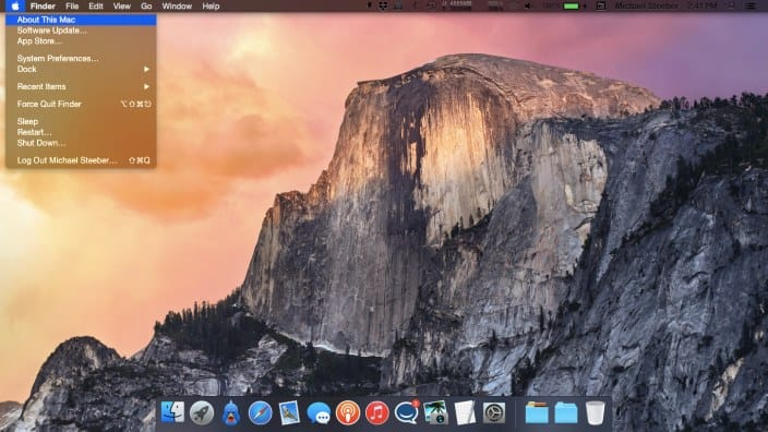 Enabling OS X Yosemite dark mode