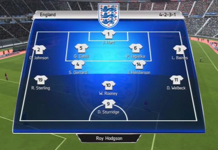 England-v-Uruguay-lineup