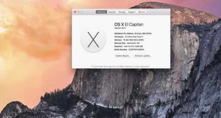 Enroll your device for OS X El Capitan public beta