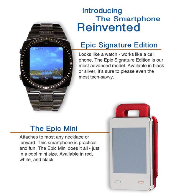 Epic smartwatches